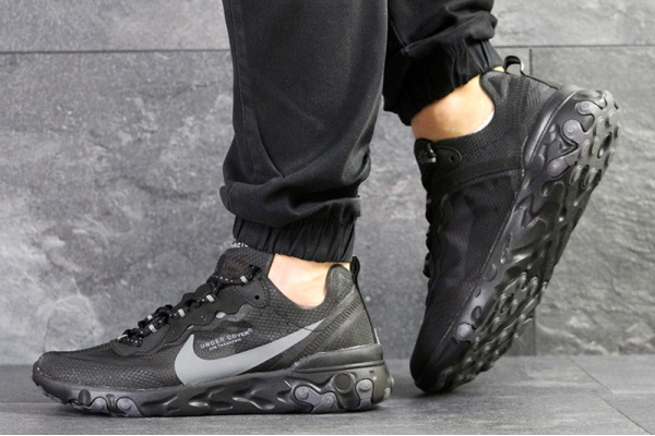 Мужские кроссовки Nike React Element 87 x UNDERCOVER черные с серым