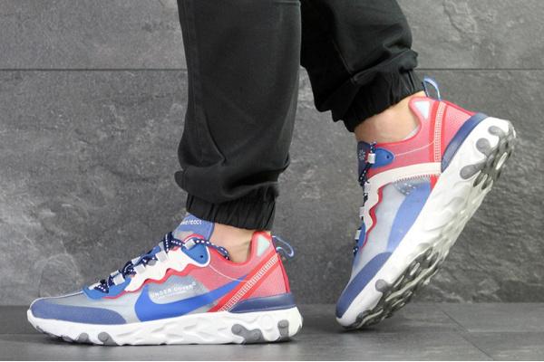 Мужские кроссовки Nike React Element 87 x UNDERCOVER синие с красным