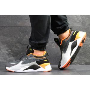 Мужские кроссовки Puma RS-X Reinvention серые с оранжевым