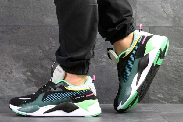 Мужские кроссовки Puma RS-X Reinvention зеленые с черным