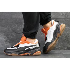Мужские кроссовки Puma Thunder Spectra белые с оранжевым