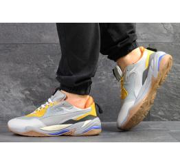 Купить Мужские кроссовки Puma Thunder Spectra серые с желтым