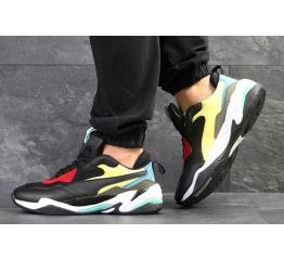 Мужские кроссовки Puma Thunder Spectra жерные с желтым