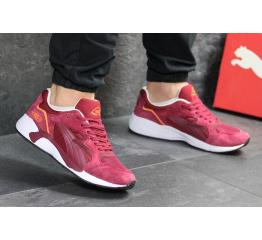 Мужские кроссовки Puma Trinomic R698 бордовые