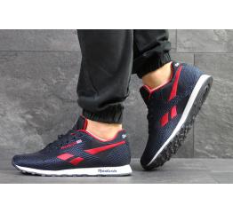 Купить Мужские кроссовки Reebok Classic Runner Jacquard темно-синие с красным