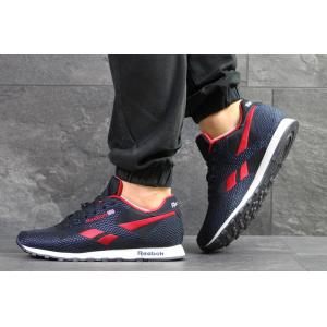 Мужские кроссовки Reebok Classic Runner Jacquard темно-синие с красным