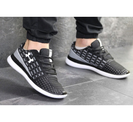 Купить Мужские кроссовки Under Armour Threadborne Slingflex черные с белым в Украине