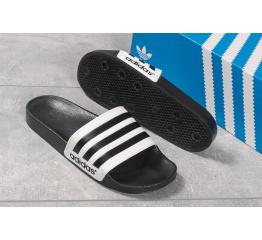 Купить Мужские шлепанцы Adidas белые с черным