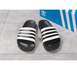 Мужские шлепанцы Adidas белые с черным