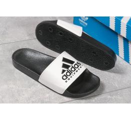 Купить Мужские шлепанцы Adidas черные с белым