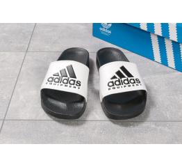 Мужские шлепанцы Adidas черные с белым
