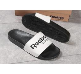 Купить Мужские шлепанцы Reebok белые с черным