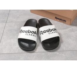 Купить Мужские шлепанцы Reebok белые с черным в Украине