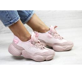 Женские кроссовки Adidas Yeezy SPIY-550 пудровые