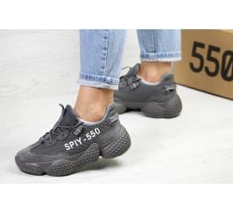 Женские кроссовки Adidas Yeezy SPIY-550 темно-серые