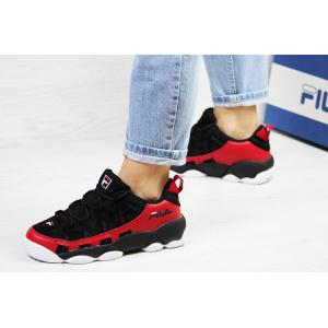 Женские кроссовки Fila Spagetti Low черные с красным