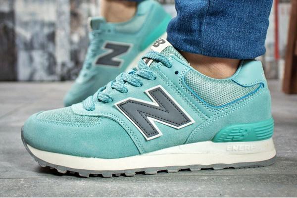 Женские кроссовки New Balance 574 бирюзовые