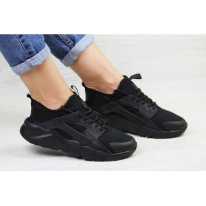 Женские кроссовки Nike Air Huarache черные