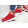 Женские кроссовки Nike Air Huarache красные с белым