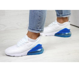 Женские кроссовки Nike Air Max 270 белые с синим