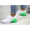 Женские кроссовки Nike Air Max 270 белые с зеленым