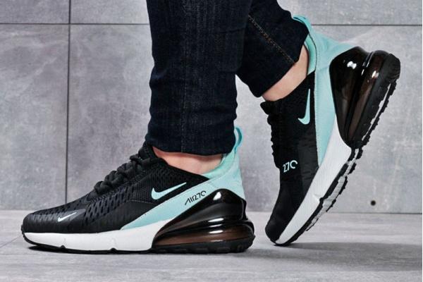 Женские кроссовки Nike Air Max 270 черные с бирюзовым