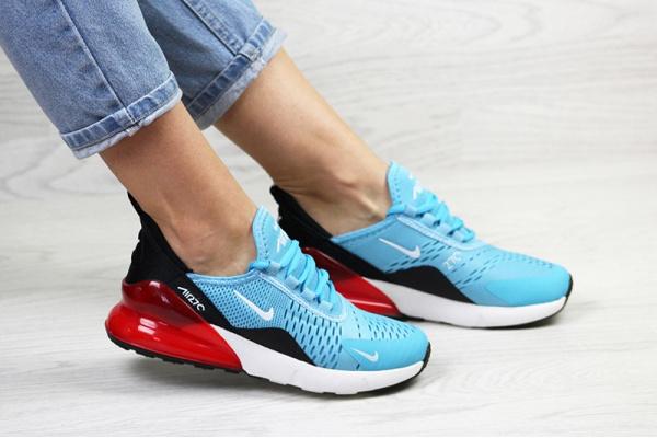 Женские кроссовки Nike Air Max 270 голубые