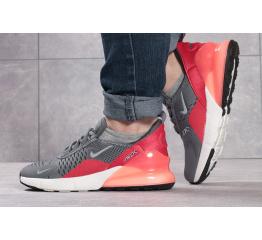 Женские кроссовки Nike Air Max 270 серые с коралловым