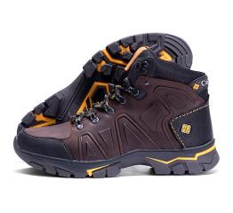 Купить Мужские ботинки на меху Columbia коричневые в Украине