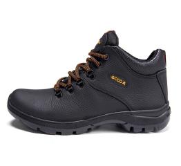 Мужские ботинки на меху Ecco Infinity черные
