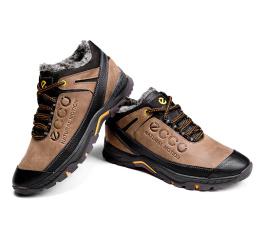 Мужские ботинки на меху Ecco Natural Motion Winter коричневые