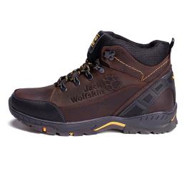 Мужские ботинки на меху Jack Wolfskin темно-коричневые