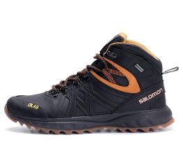 Мужские ботинки на меху Salomon черные