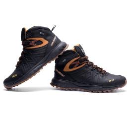Купить Мужские ботинки на меху Salomon черные в Украине