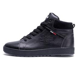 Мужские ботинки на меху Tommy Hilfiger черные