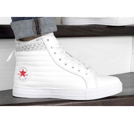 Купить Чоловічі кеди Converse Chuck Taylor All Star Waterproof Boot Quilted Leather white