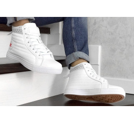 Купить Чоловічі кеди Converse Chuck Taylor All Star Waterproof Boot Quilted Leather white в Украине