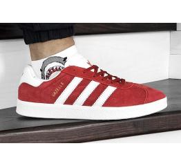 Купить Мужские кроссовки Adidas Gazelle красные с белым