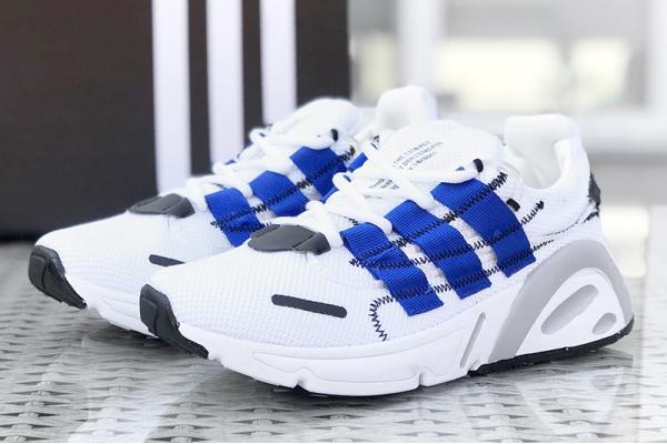 Мужские кроссовки Adidas LXCON белые с синим