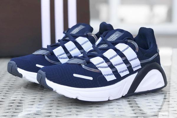 Мужские кроссовки Adidas LXCON темно-синие с белым