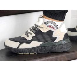 Купить Мужские кроссовки Adidas Nite Jogger BOOST бежевые с черным
