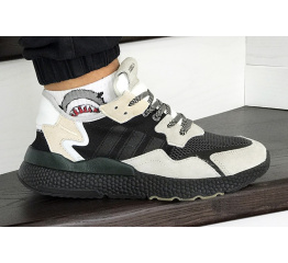 Купить Мужские кроссовки Adidas Nite Jogger BOOST бежевые с черным в Украине
