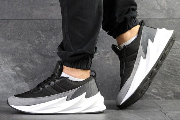Мужские кроссовки Adidas Sharks черные с серым