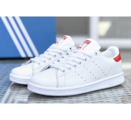 Купить Мужские кроссовки Adidas Stan Smith белые с красным