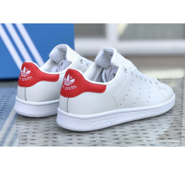 Купить Чоловічі кросівки Adidas Stan Smith білі з червоним в Украине