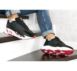 Купить Мужские кроссовки Adidas Yeezy Boost 700 V2 Static черные с белым и красным
