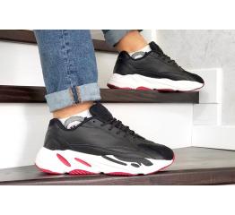 Купить Мужские кроссовки Adidas Yeezy Boost 700 V2 Static черные с белым и красным в Украине