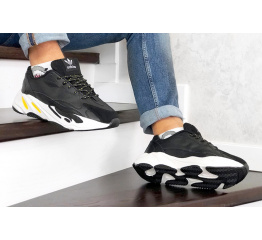 Купить Мужские кроссовки Adidas Yeezy Boost 700 V2 Static черные с белым и желтым