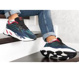 Купить Мужские кроссовки Adidas Yeezy Boost 700 V2 Static синие с черным