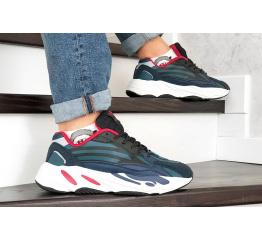 Купить Мужские кроссовки Adidas Yeezy Boost 700 V2 Static синие с черным в Украине